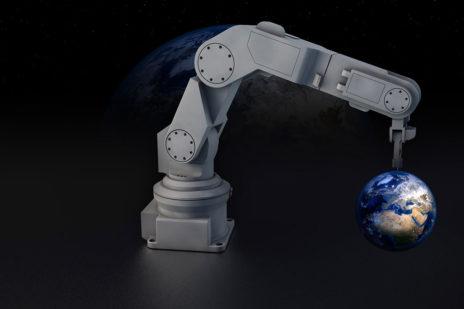 Intelligente Roboter montieren einen Ikea Stuhl